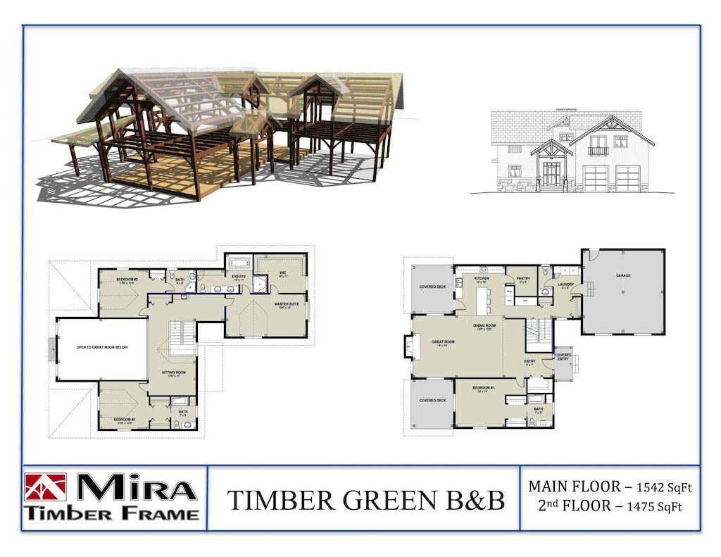 Timber Green B&B 2-Storey - Plan