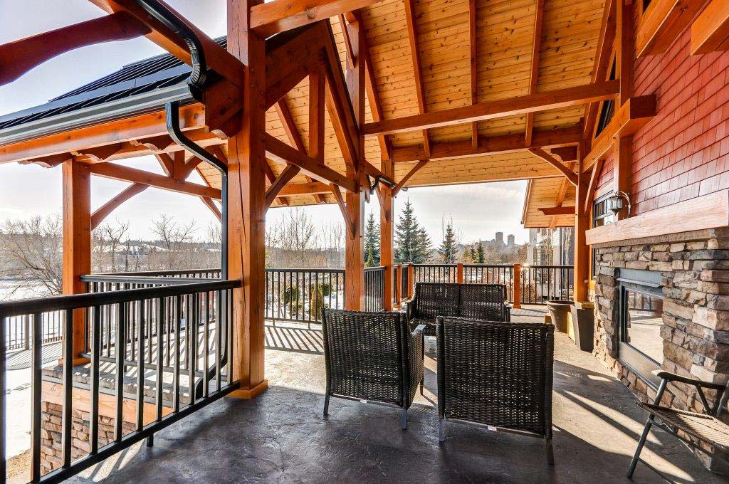 Covered deck on private residence